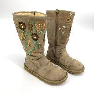 Uggs Cosita Embroidered Floral Beaded Boots